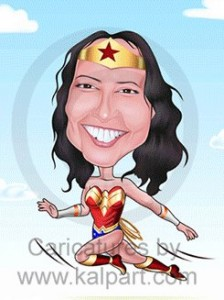 Super woman caricature
