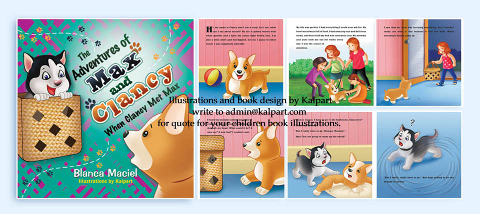 Book Design and layout - children | Caricature from photo ...