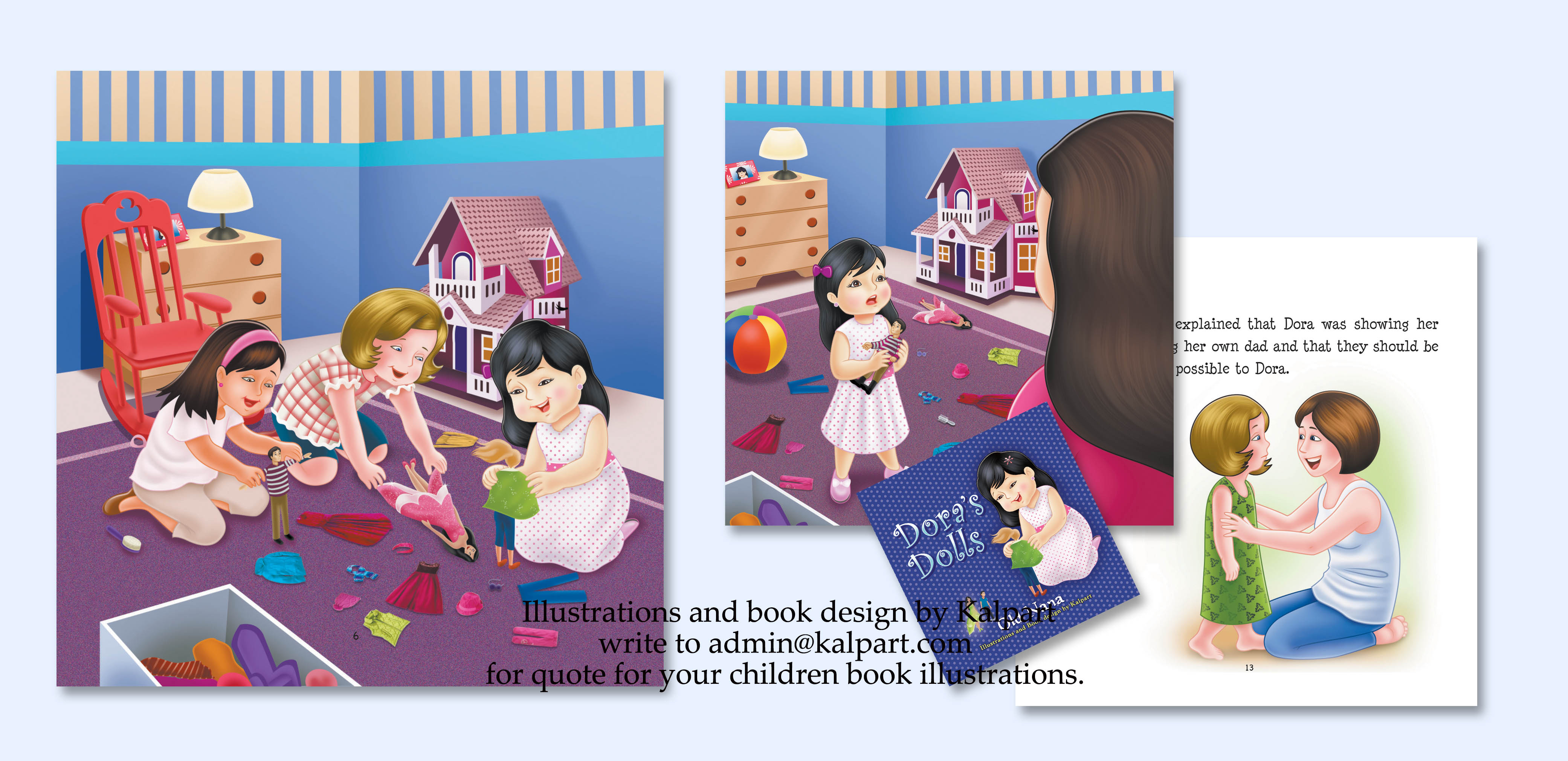 children storybook layout and cover design by kalpart