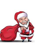 Get yourself caricatured digitally or Hand drawn in Santa outfit. Just email your photo and write your required style.