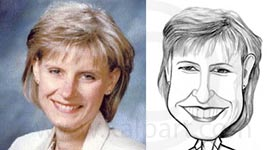 Funny Black and White Caricature from photo www.kalpart.com