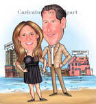 www.kalpart.com Couple caricature