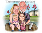 www.kalpart.com Small Family Caricature