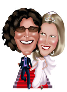 www.kalpart.com Color Wedding Caricature