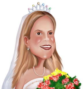 www.kalpart.com Wedding Caricature from Photo