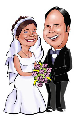 www.kalpart.com Wedding Caricatures for Less